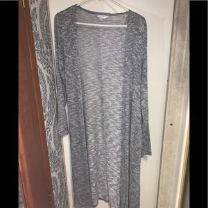 Light gray long sleeve cover up